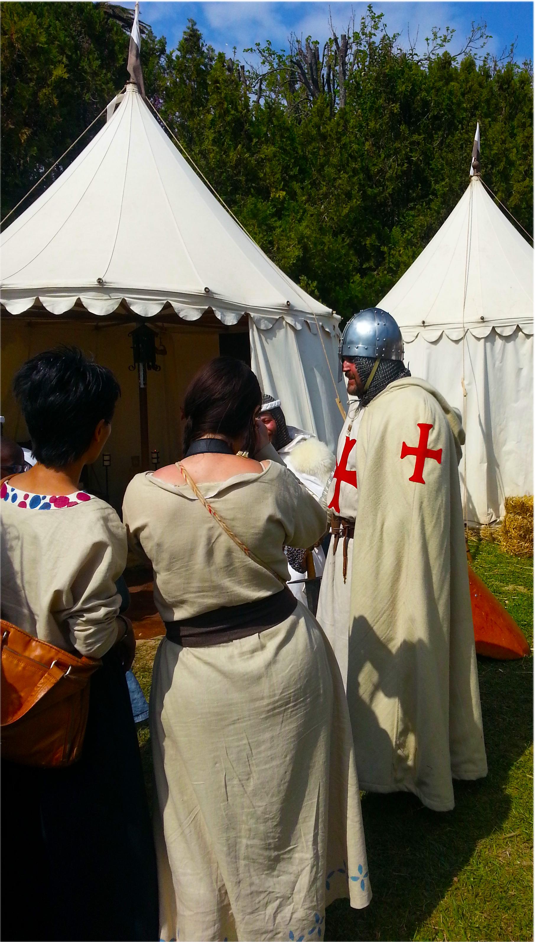 personnages médiévaux Biot et les Templiers