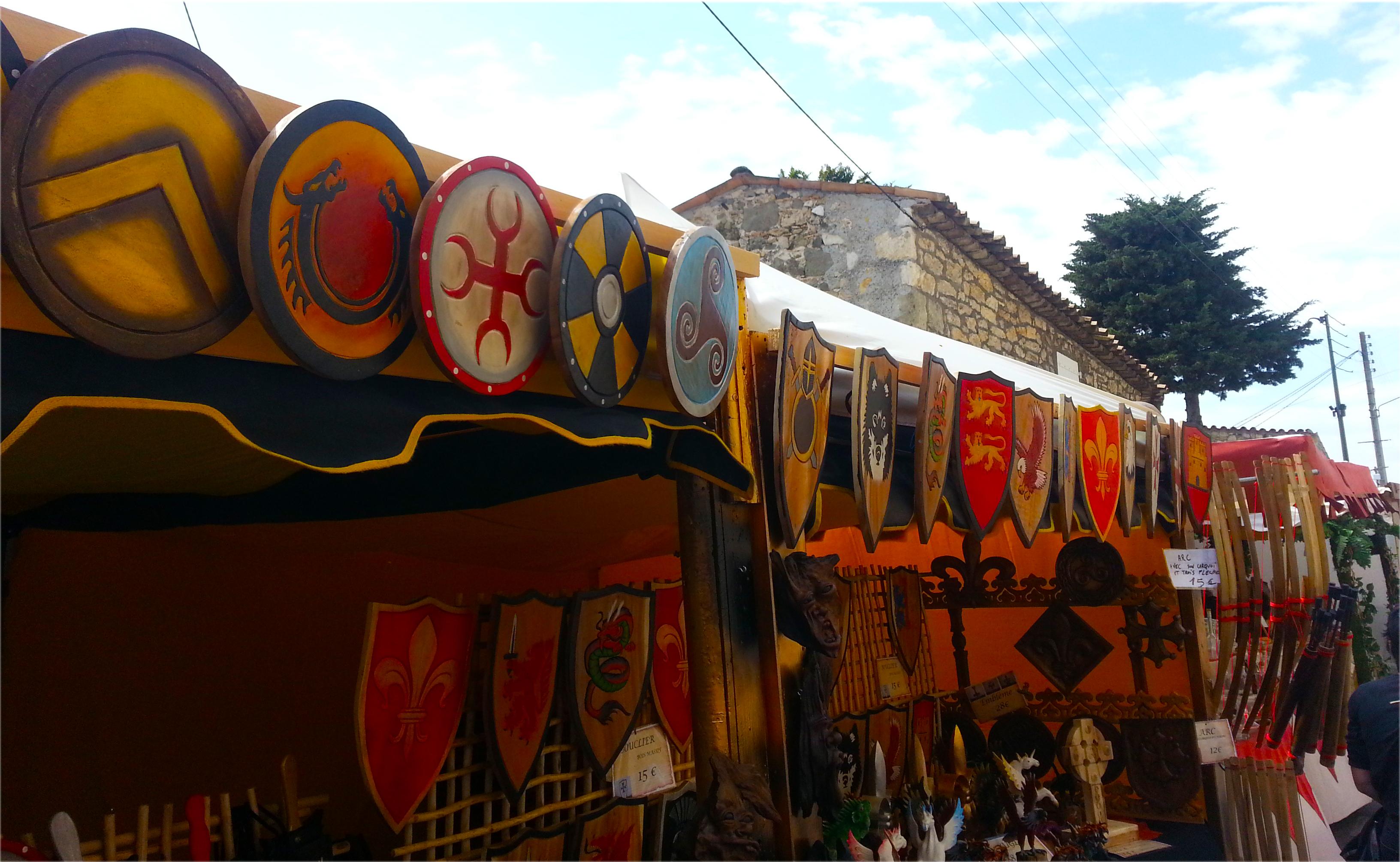 boucliers médiévaux Biot et les Templiers