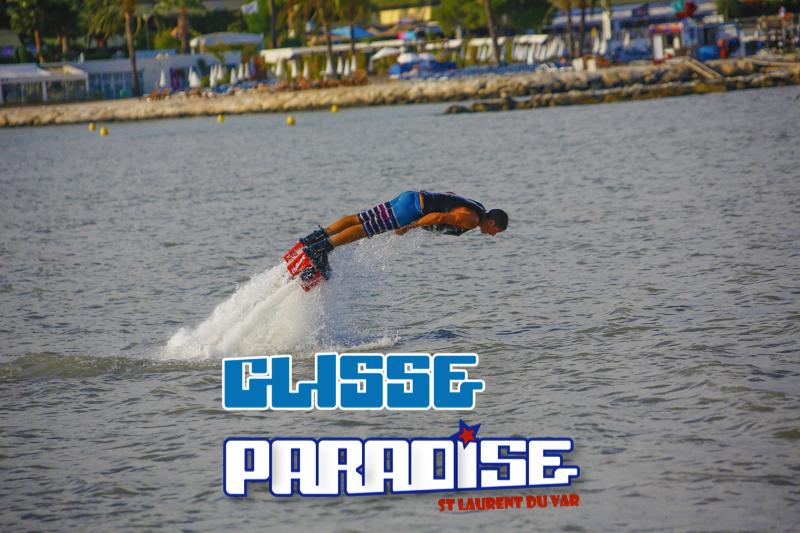 plongeon flyboard glisse paradise