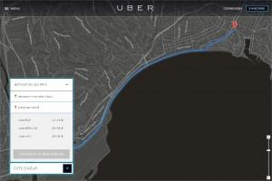 UBER VTC taxi Nice Côte d'Azur trajet estimation devis