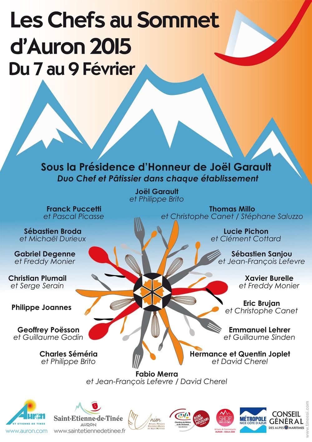 chefs des chefs au sommets d'auron festival de la gastronomie de Montagne