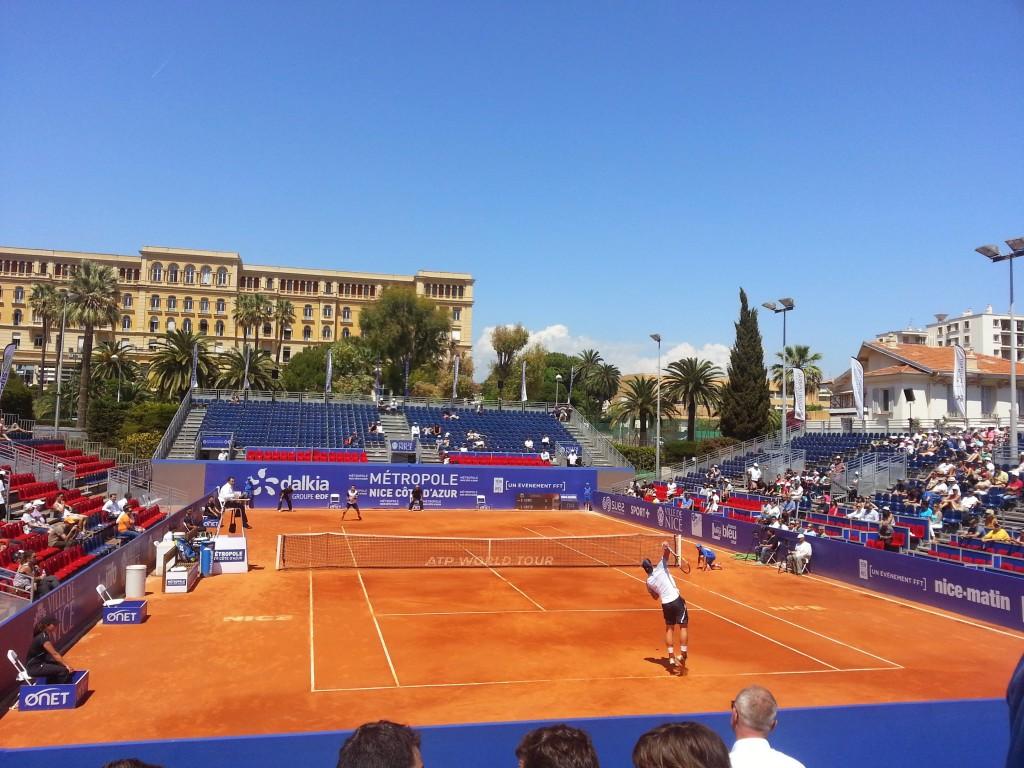 service tennis ATP 250 open de Nice Côte d'Azur