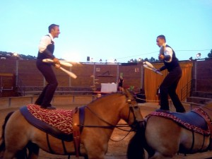 jongle sur chevaux spectacle equestre volia nice