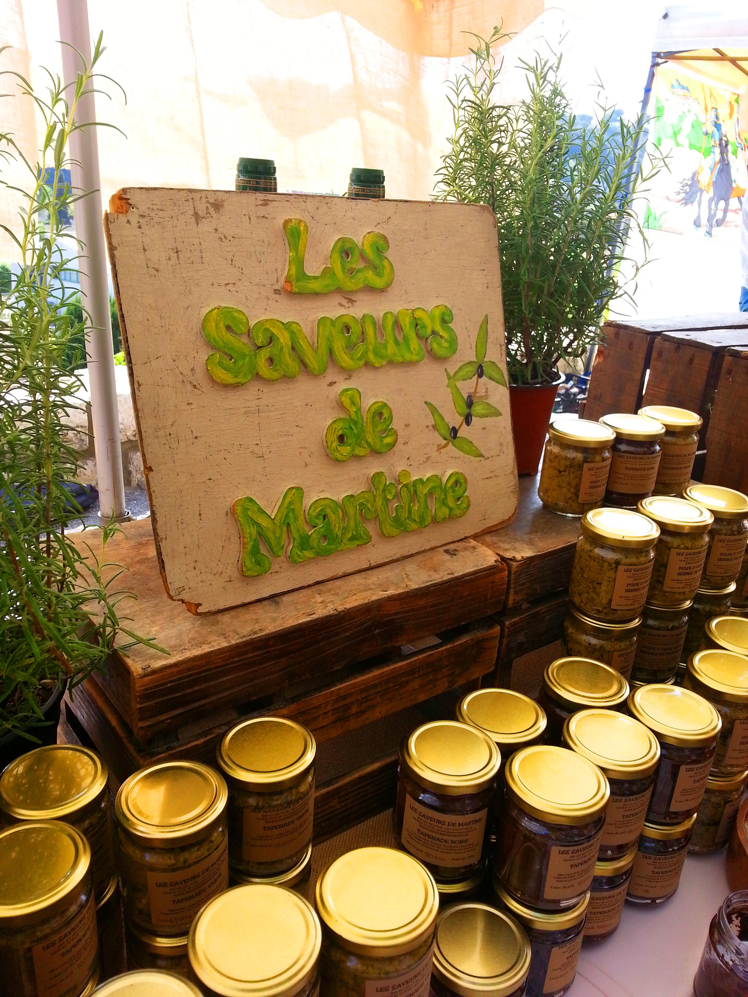 Les saveurs de Martine : tapenades Biot et les Templiers