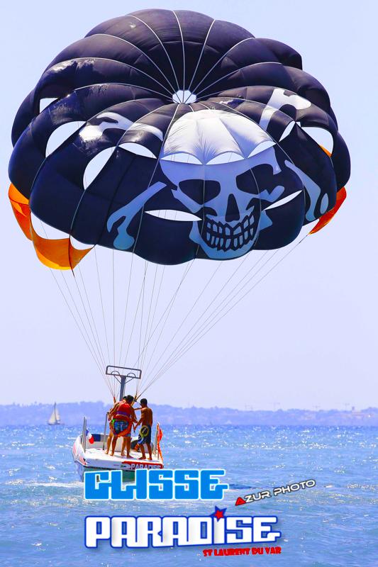 côte d'azur parachute ascentionnel glisse paradise