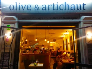 olive et artichaut vieux nice restaurant nice weekend