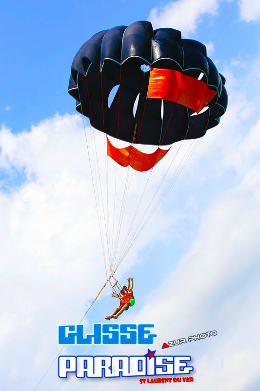 parachute ascensionnel glisse paradise côte d'azur