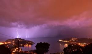 photo éclair orage nice météo côte d'azur