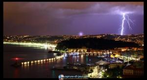photo port nice éclair orage nice météo antony brunain