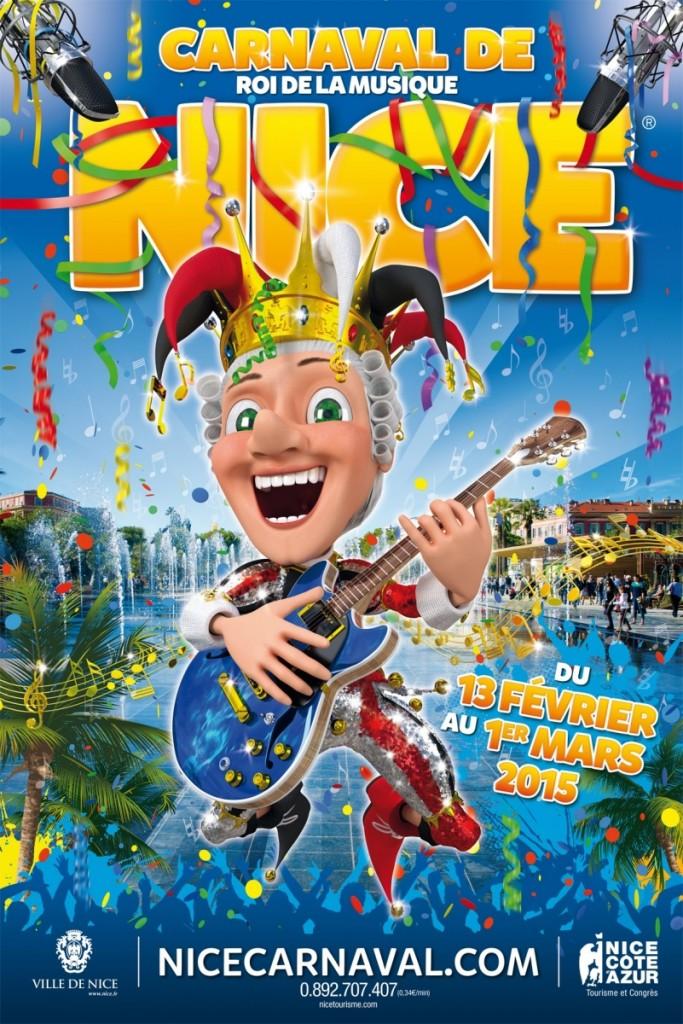 affiche carnaval de Nice 2015 roi de la musique nice weekend