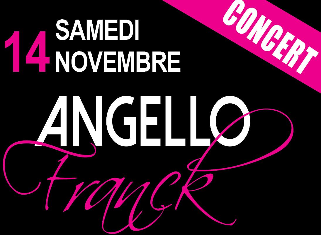 Le chanteur Franck Angello en concert à Nice le samedi 14 Novembre