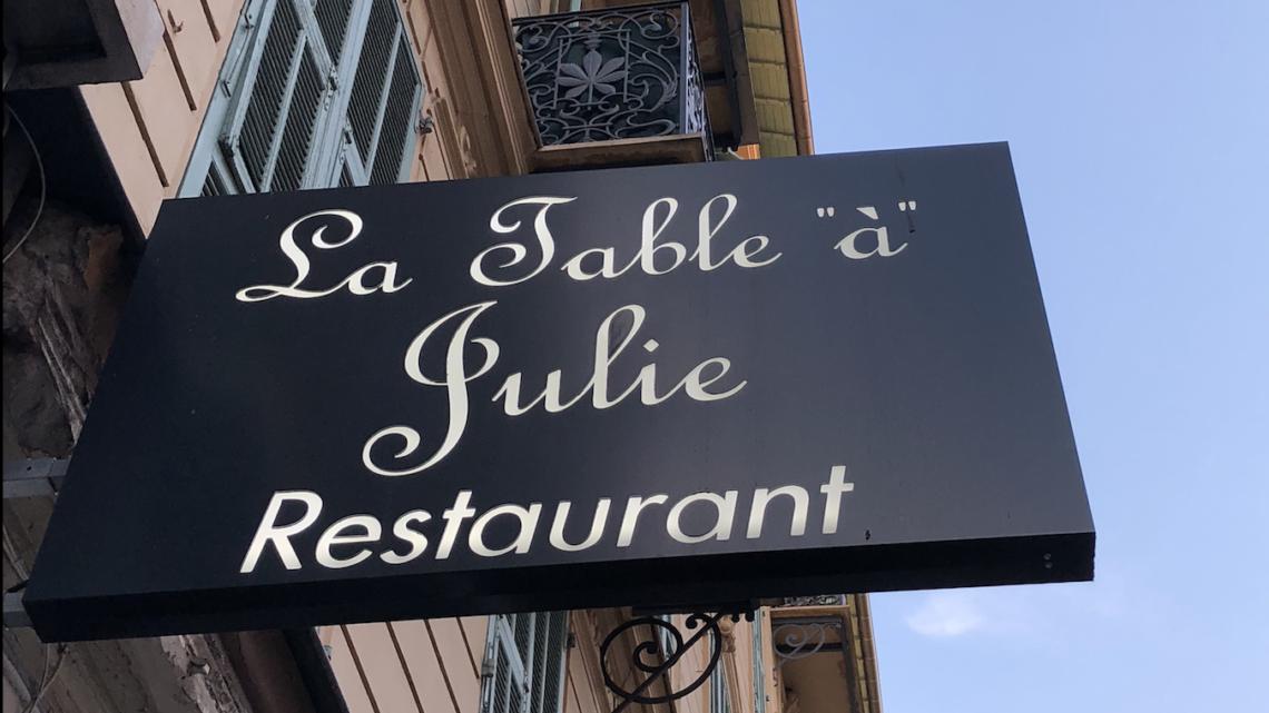 bien manger niçois chez La table «à» Julie