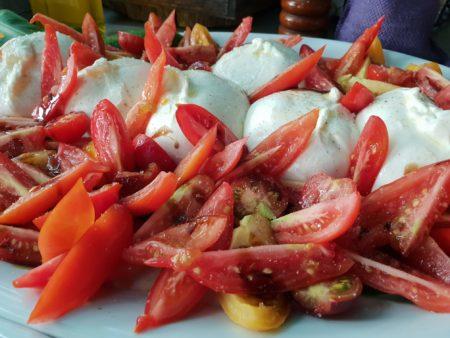tomate bio buratta table éphémère nice