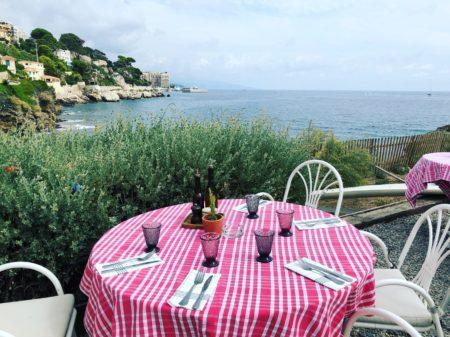 manger avec vue sur la mer