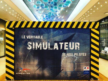 simulateur de vol armé