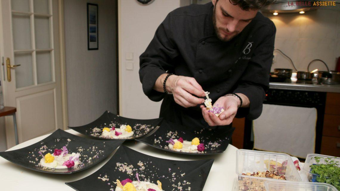 Romain Dobovsek chef à domicile avec La Belle Assiette